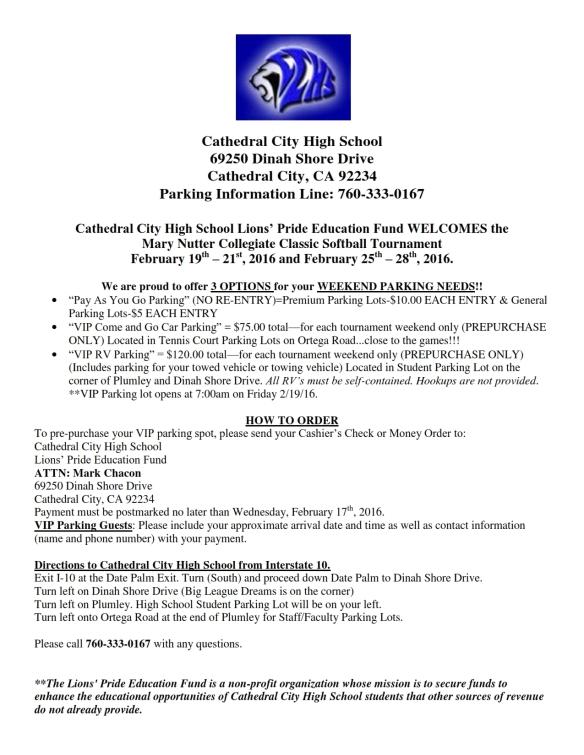 2016 NCAA Parking Flyer_001